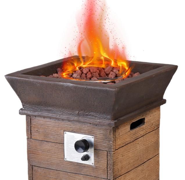 Patio Fire Pit Chat Sets-Modern Depo fire pit burn bowl