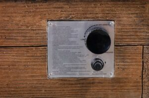 Modern Depo fire pit control panel