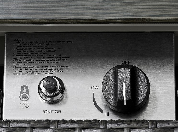 Gas Fire Pit Chat Sets-Ove Decors Lambert Fire control panel