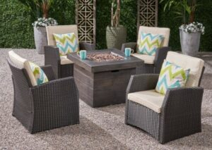 Bexley Club chairs with fire pit