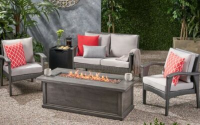 Kingsfield Outdoor Fire Pit Seating Set