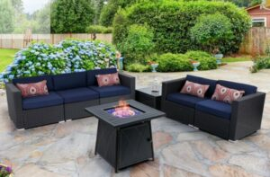 MF Studio Sectionals with fire pit