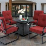 MF Studio Spring chairs with fire pit