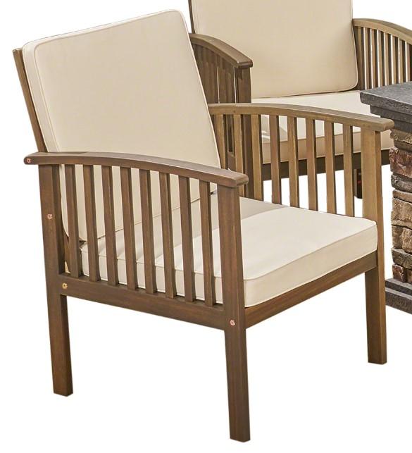 Tucson chairs with cream cushions