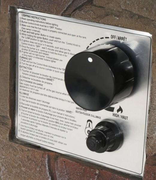 Tucson fire pit control panel