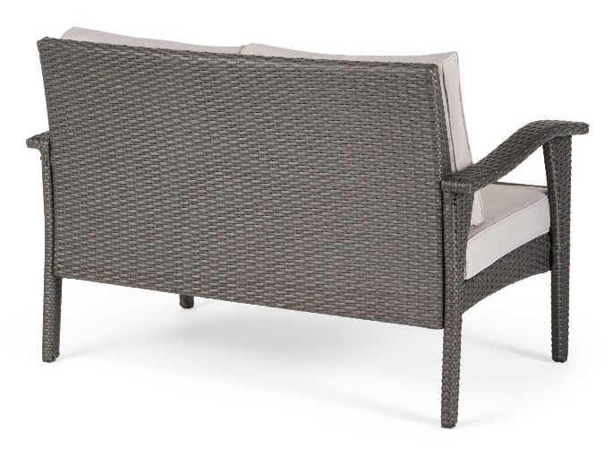 Conversation Set with a Fire Pit-Kingsfield Back of seating wicker design